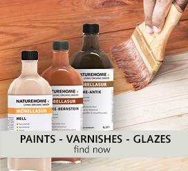 paints varnishes glazes DIY NATUREHOME
