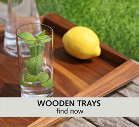 Wooden tray tablet NATUREHOME