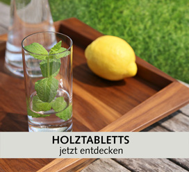 Servier-Tabletts aus Holz