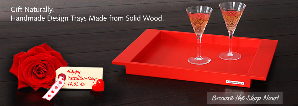 wood  and natural tray nature-home Valentine Day