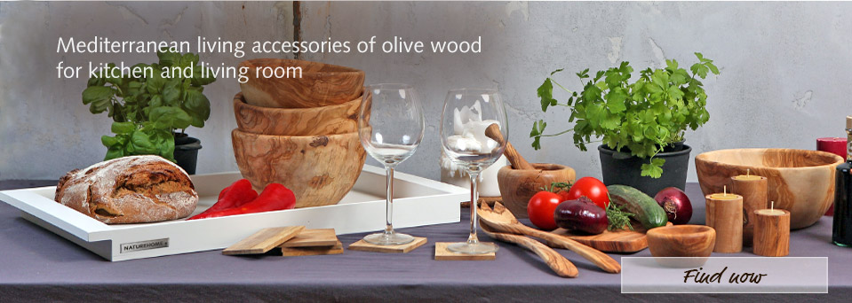 mediteranean olive wood living accessories