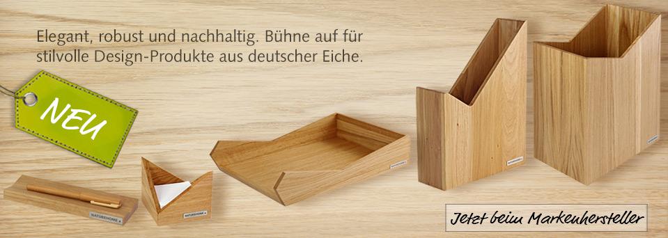 Eiche Holz Trend Office Büro Accessoires Ablage Papierkorb design Natur NATUREHOME