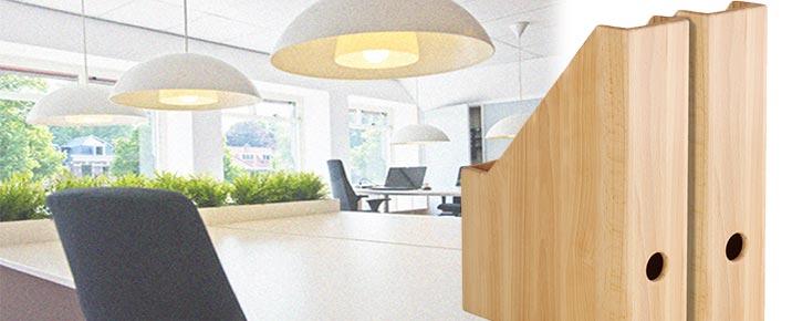 Serie ECO - langlebige Holz-Büroaccessoires - stilvoll und ökologisch für unsere Umwelt.