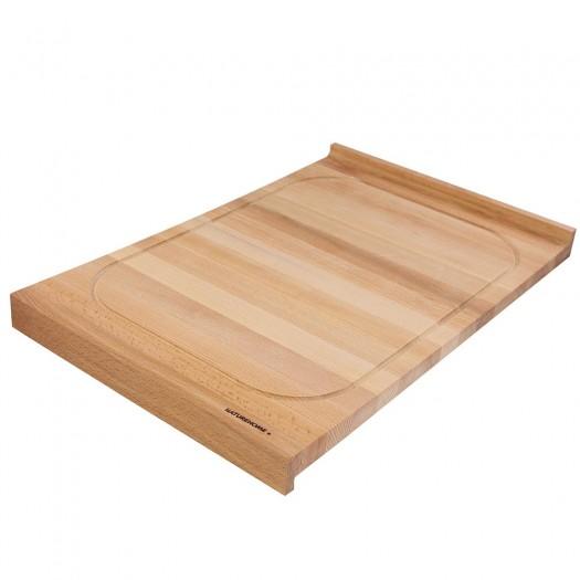 Holzschneidebrett aus Buche beidseitig 60 x 40 cm