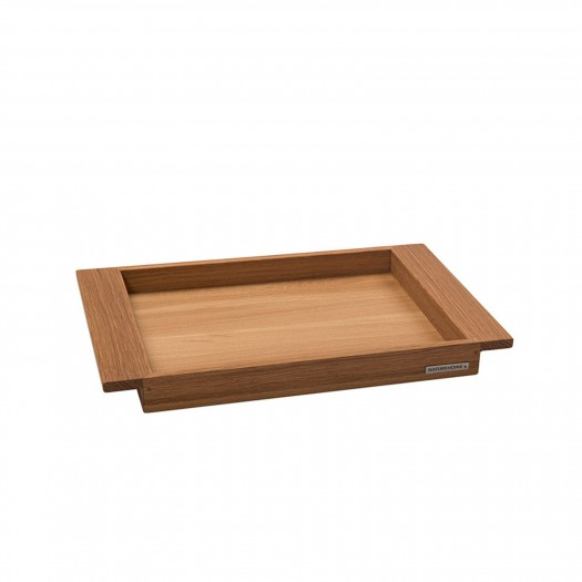 Tray walnut solid wood 44,5 x 28,5 cm from NATUREHOME