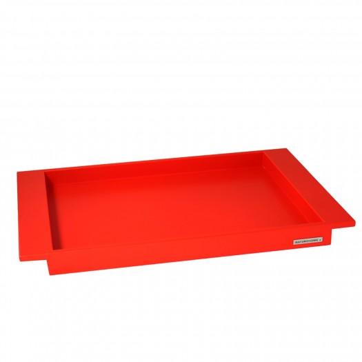Holztablett Buche rot NH-E1