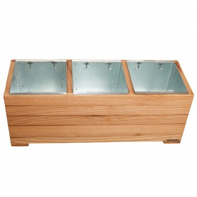 Flower box set with 3 planting inserts