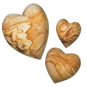 Decorative heart flattering olive wood
