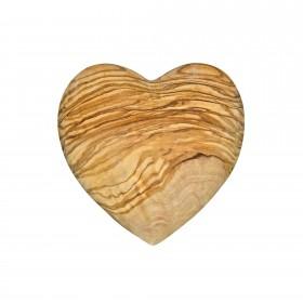 Decorative heart flattering olive wood