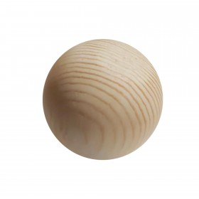 Wooden ball made of pine wood untreated, 7 cm