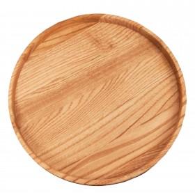 Wooden Serving tray round chestnut, 30 cm
