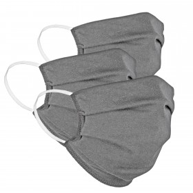 Mouth and nose mask grey, 3 pieces