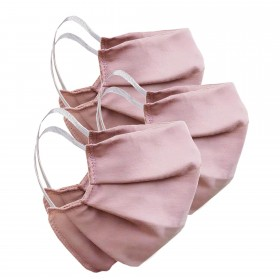 Mouth and nose mask pink, 3 pieces