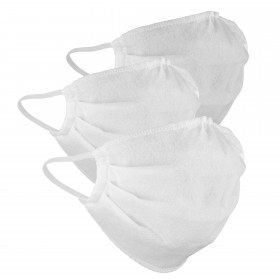 Mouth and nose mask white, 3 pieces