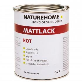 matt varnish red 750 ml