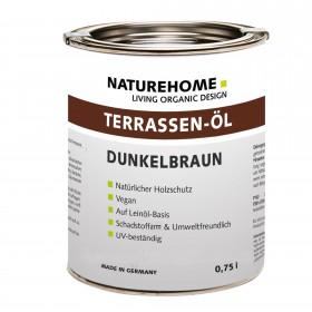 Terrassen-Öl Holzöl für Außenbereich 0,75 l Dunkelbraun