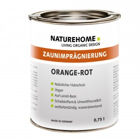 Fence impregnation for outdoor use 0.75l orange-red