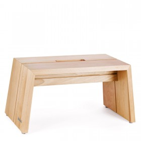 Design step stool solid wood beech naturally oiled with handle