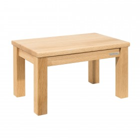 Footstool ECO solid wood oak natural oiled 44 x 26 x 24 cm