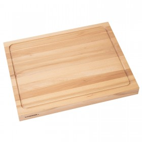 Cutting board with juice rin beech wood double-sided, 50 x 40 x 4 cm