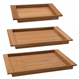 NH-E wooden tray oak, div. sizes