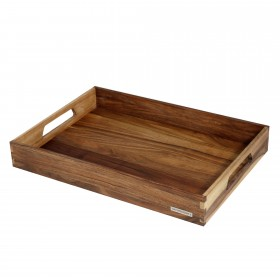 NH-B wooden tray walnut, 50 x 35,5 x 7 cm