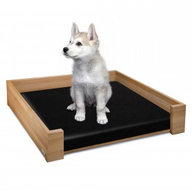 Set of RHEA design dog bed beech naturally oiled, 85 x 65 cm plus inlay