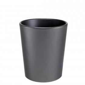 Ceramic pot matt anthracite Ø 19 cm
