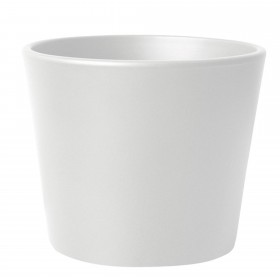 Flowerpot Potper Ceramic White Matt Ø 23cm