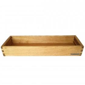 Candle tray chestnut wood, 45 x 15 cm