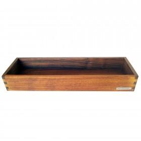 Candle tray walnut wood, 45 x 15 cm