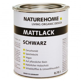 matt varnish wood lacquer black 750 ml