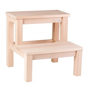 Basic Step Stool Beech Wood natural