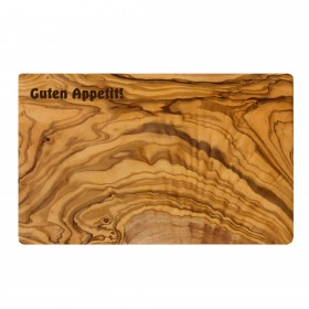 Engraved product: cutting board olive wood 35 x 18 cm with individual engraving