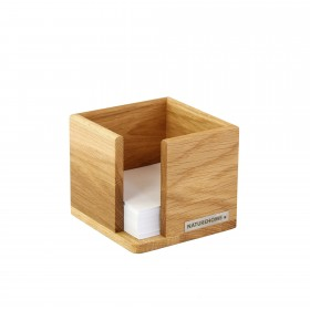 Wooden Noteholder Cube Solid Oak Made in Germany