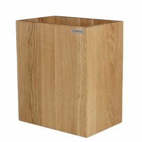 Recycle bin CLASSIC oak wood oiled natural by NATUREHOME
