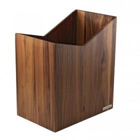 """Wastepaper Bin """"Skript"""" Walnut Tree 20 x 35 x 30 cm (W x H x D)"""