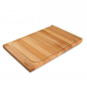 Cutting board with juice groove, beech wood 60 x 40 cm