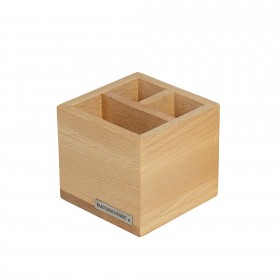 Office pencil box pen holder CLASSIC beech wood