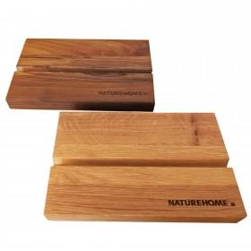 Tablet holder solid wood 19.5 x 12.5 x 2.5 cm