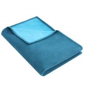 Blanket IDA 100% organic cotton, 140 x 200 cm, teal