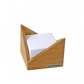 "Memo Box ""Skript"" Beech 9,5 x 9,5 cm"