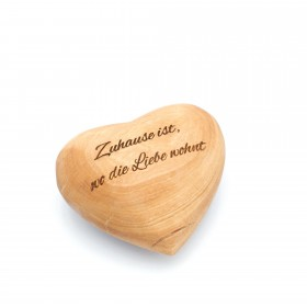 Decorative heart olive wood 7 cm, customizable with engraving