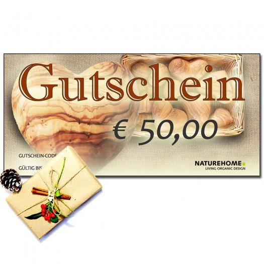 Geschenk-Gutschein, Wert: 50 EUR