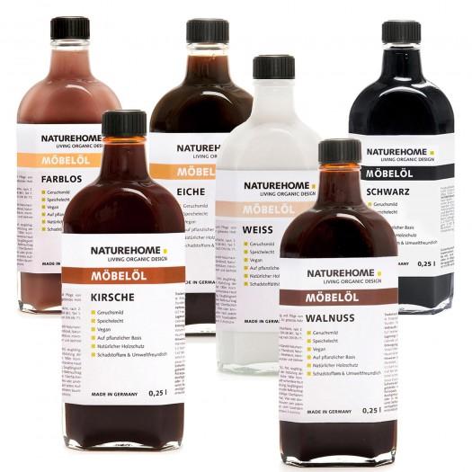 Möbelöl farblos und in Holztönen von NATUREHOME