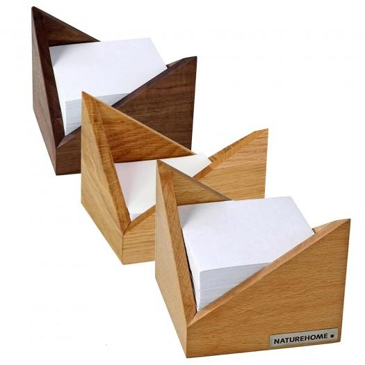 SKRIPT Zettelbox 11,5 x 11,5 x 9,5 cm, div. Holzarten