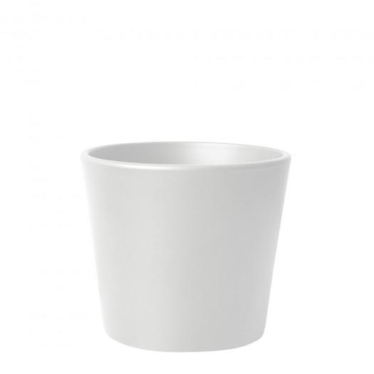 Blumentopf Übertopf Keramik Weiß Matt Ø 13,5 cm