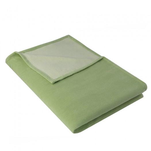 Wohndecke IDA aus 100% Baumwolle Bio, 140 x 200 cm, Lindgrün
