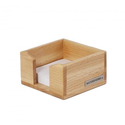 ECO Zettelkasten Buchen-Holz Natur geölt