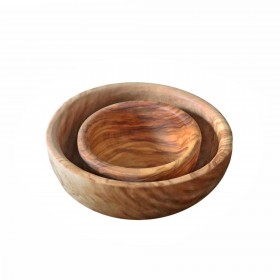 2-tlg. Set Schüssel Schalen Olivenholz 10 + 16 cm